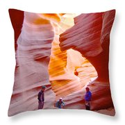 Overwhelmed In Lower Antelope Canyon-az Throw Pillow