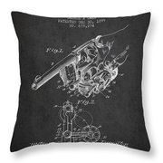 Owen Revolver Patent Drawing From 1899- Dark Throw Pillow