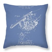 Owen Revolver Patent Drawing From 1899- Light Blue Throw Pillow