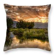 Owens River Sunset Throw Pillow