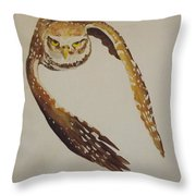 Owl Attack Throw Pillow
