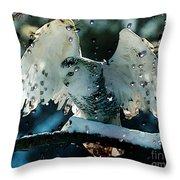 Owl In Snow Throw Pillow