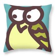 owl Throw Pillow by Nursery Art