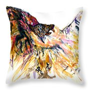 Owl Power Throw Pillow