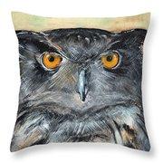 Owl Series - Owl 1 Throw Pillow