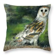 Owl Series - Owl 3 Throw Pillow
