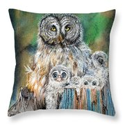 Owl Series - Owl 4 Throw Pillow