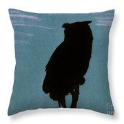 Owl Silhouette Throw Pillow
