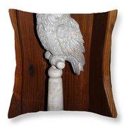 Owl Statue Throw Pillow
