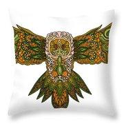 Owl Yellow Throw Pillow