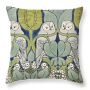 Owls, 1913 Throw Pillow