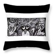 Owls Eyes Throw Pillow