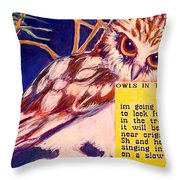 Owls In The Trees Throw Pillow
