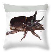 Ox Beetle Abstract Throw Pillow