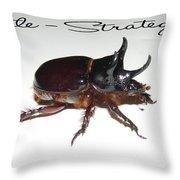 Ox Beetle Throw Pillow