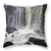Oxarafoss Waterfall Throw Pillow