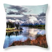 Oxbow Bend Throw Pillow by Dan Sproul