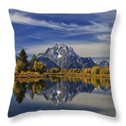 Oxbow Reflections Throw Pillow