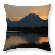 Oxbow Sunset Throw Pillow