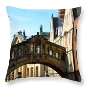 Oxford Bridge Of Sighs Throw Pillow