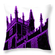 Oxford England 1986 Purple Spirals Art1 Jgibney The Museum Gifts Throw Pillow
