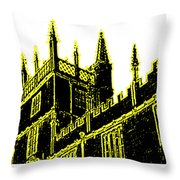 Oxford England 1986 Yellow Spirals Art1 Jgibney The Museum Gifts Throw Pillow