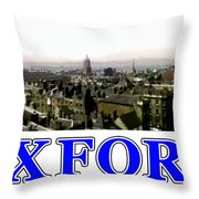 Oxford Snapshot Panorama Rooftops 2 Jgibney The Museum Zazzle Gifts Throw Pillow
