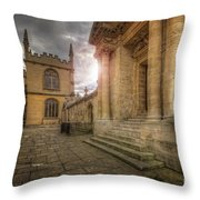 Oxford University - History-sheldonian-divinity Throw Pillow