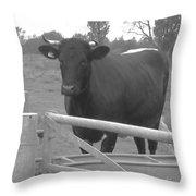 Oxlease Bull Throw Pillow