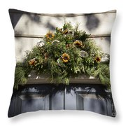 Oyster And Sunflower Swag Throw Pillow