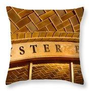 Oyster Bar Throw Pillow