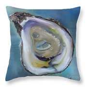 Oyster On The Half Shell Throw Pillow