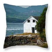 Old Oyster Shack Throw Pillow