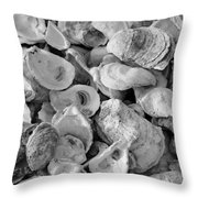 Oyster Shells Throw Pillow