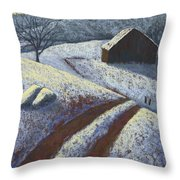 Ozark Winter Barn Throw Pillow