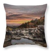 Ozark Mountain Stream Throw Pillow