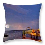 Ozona Pier  Throw Pillow