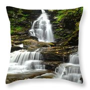 Ozone Falls Close Up Throw Pillow