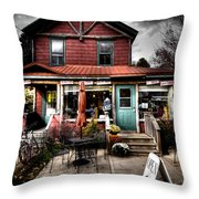 Ozzie's Coffee Bar - Old Forge Ny Throw Pillow
