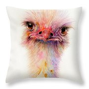 Ozzy The Ostrich Throw Pillow