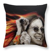 Ozzy's Fire Throw Pillow