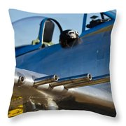 P 41 Fighter Throw Pillow