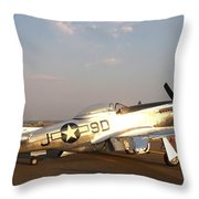 P-51 Mustang Fighter Aircraft Throw Pillow