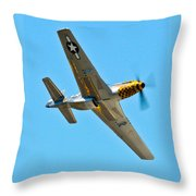 P-51 Mustang Wing Over Throw Pillow by Puget  Exposure