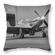 P-51d Spam Can Throw Pillow