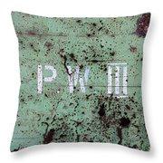 P W Throw Pillow
