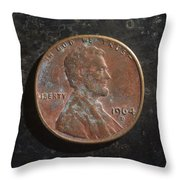 P1964 D H Throw Pillow