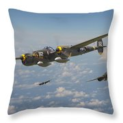 P38 Lightning - Pacific Patrol Throw Pillow