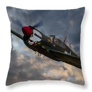P40 Warhawk Tribute Throw Pillow