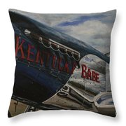 P51 Mustang Kentucky Babe Warbird Throw Pillow